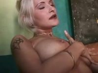 Hungry blonde deep sucks hard cock