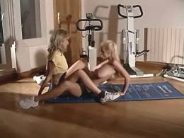 Sporty lesbians pleasure each other